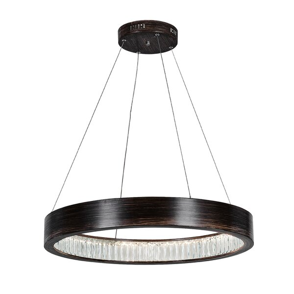 Alidge 1-Light LEDUnique / Statement Wagon Wheel Chandelier by Orren Ellis Orren Ellis