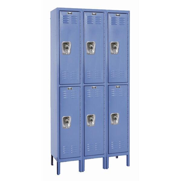 ReadyBuilt 2 Tier 3 Wide School Locker by Hallowell