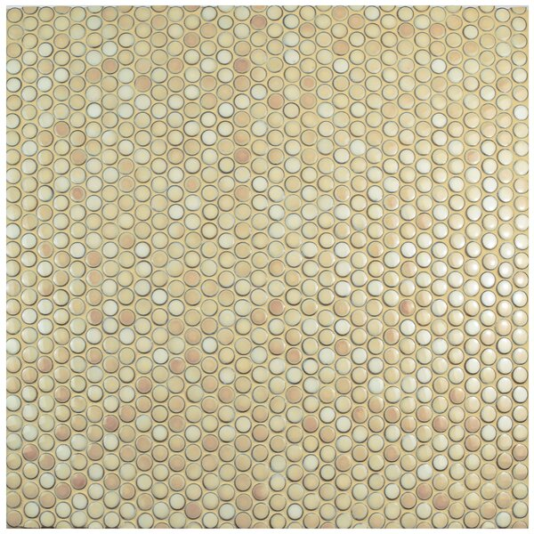 Penny 0.8 x 0.8 Porcelain Mosaic Tile in Truffle by EliteTile