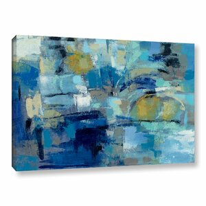 Ultramarine Waves III Framed Painting Print on Wrapped Canvas by Brayden Studio