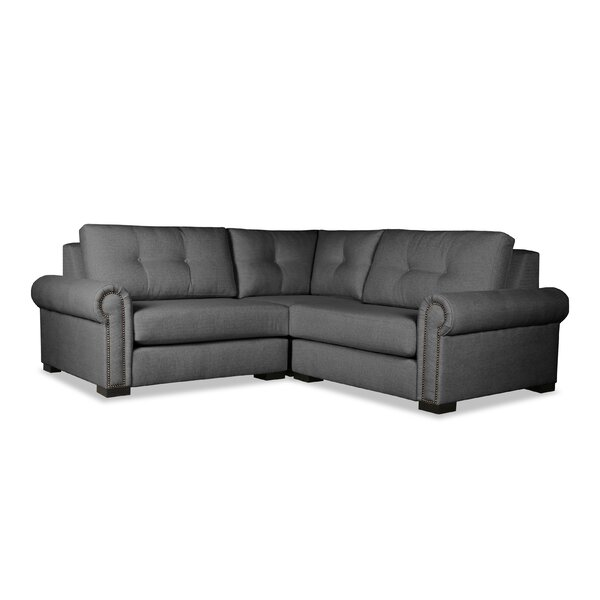 Willia Symmetrical Buttoned Right And Left Arms L-Shape Mini Modular Sectional By Three Posts