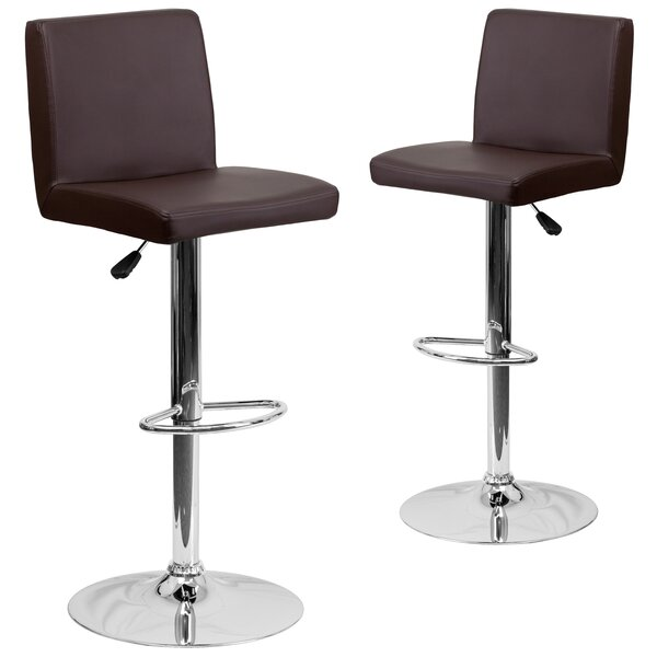 Rufus Adjustable Height Swivel Bar Stool (Set of 2) by Wrought Studio
