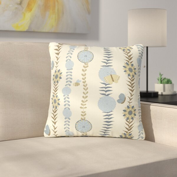 Judith Loske Flower Garden Outdoor Throw Pillow by East Urban Home