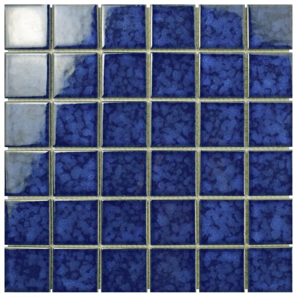 Waterfall 2 x 2 Porcelain Mosaic Tile in Atlantic by EliteTile