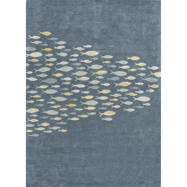 Nottingham Blue/Harbor Gray Area Rug by Rosecliff Heights