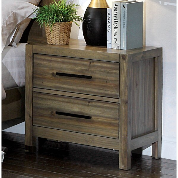Peres 2 Drawer Nightstand by Union Rustic