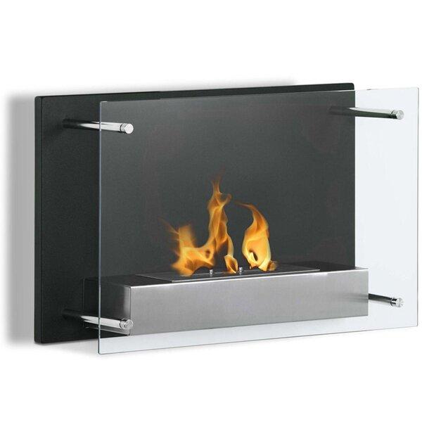 Skandar Ventless Wall Mounted Bio-Ethanol Fireplace by Orren Ellis Orren Ellis