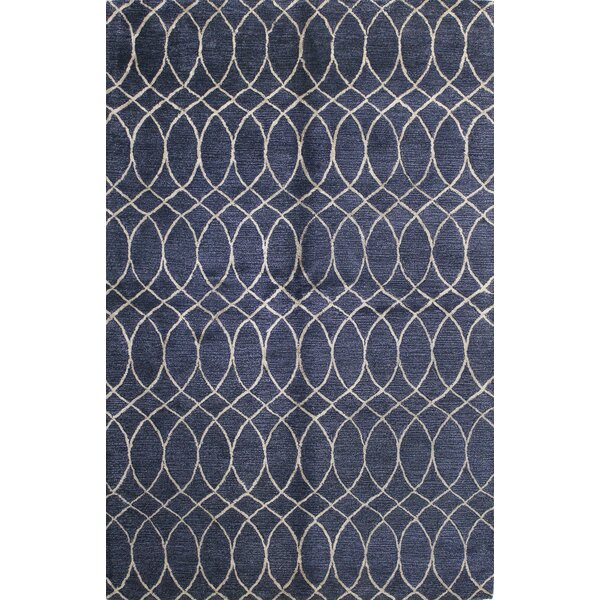 Kheston Hand-Tufted Blue Area Rug by Meridian Rugmakers