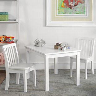 Reviews Miami 3 Piece Rectangular Table and Chair Set ByHarriet Bee