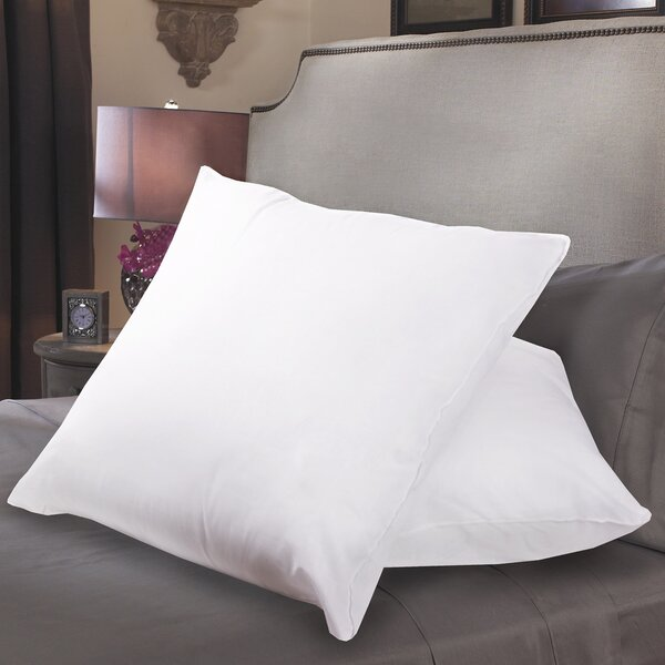 Square Polyfill European Pillow (Set of 2) by Sweet Home Collection