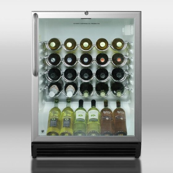 36 Bottle Single Zone Built-In Wine Refrigerator By Summit Appliance