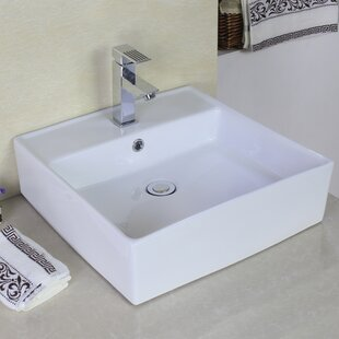 Best Ceramic Rectangular Vessel Bathroom Sink with Overflow By American Imaginations