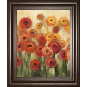 'Ranunculi Field II' Framed Painting Print by Red Barrel Studio