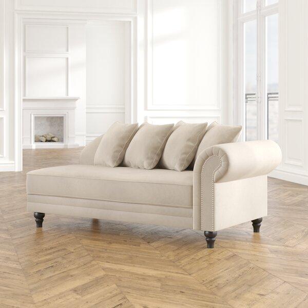 Poling Velvet Upholstered Chaise Lounge By Andover Mills