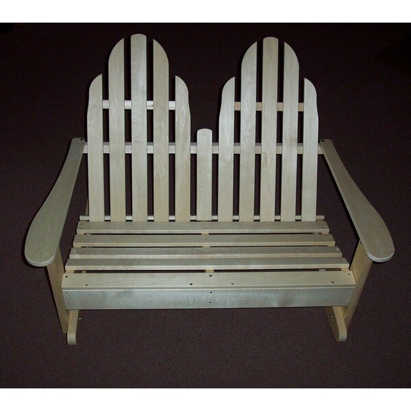 Adirondack Settee Rocking Wood Adirondack Chair by Prairie Leisure Design