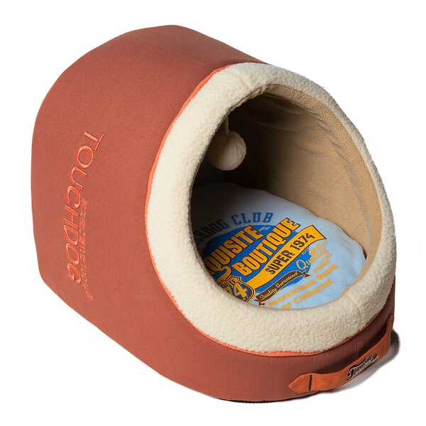 Indoor Active-Play Exquisite Panoramic Designer Vintage Emblem Dog Bed by Pet Life