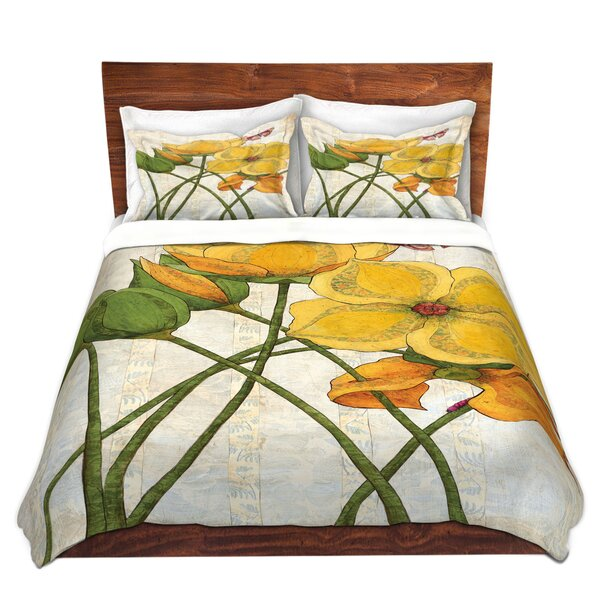 Yellow Flower Duvet Cover Set