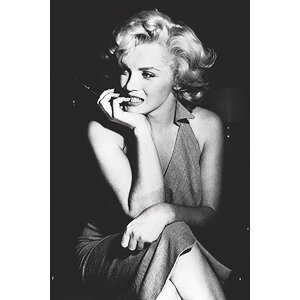 'Marilyn Monroe Sitting' by Corbis Photographic Print on Wrapped Canvas by Buy Art For Less