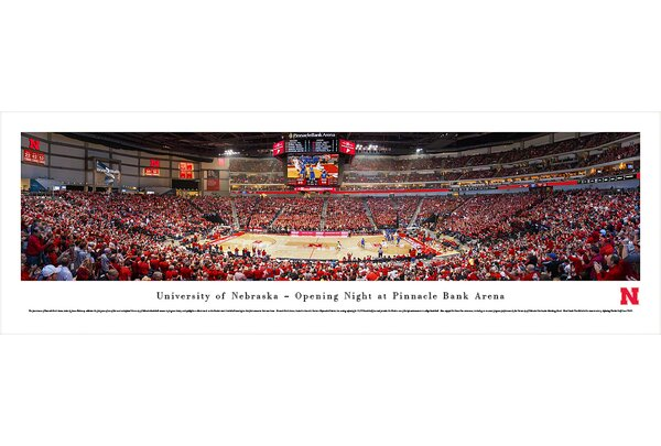 NCAA Nebraska, University of - Basketball by James Blakeway Photographic Print by Blakeway Worldwide Panoramas, Inc