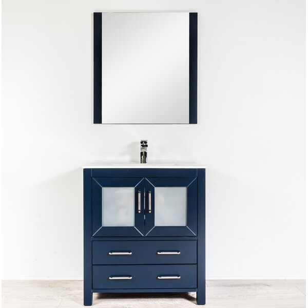 Leena 29 Single Bathroom Vanity Set with Mirror by Wrought Studio