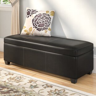 Boston Faux Leather Storage Bench Andover Mills