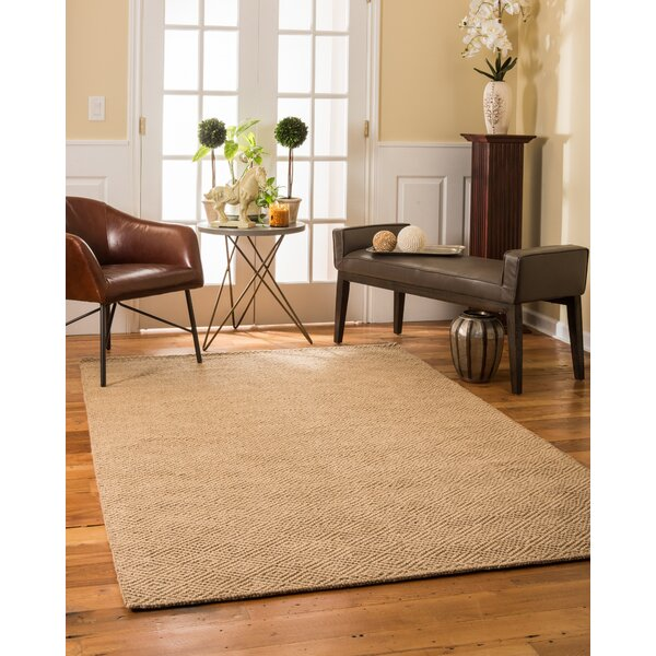 Jute Jewel Hand Woven Tan Area Rug by Natural Area Rugs