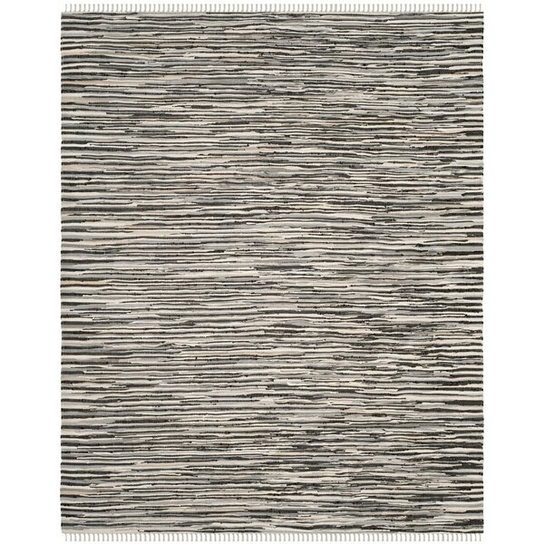 Shatzer Hand-Woven Black Area Rug by Wrought Studio
