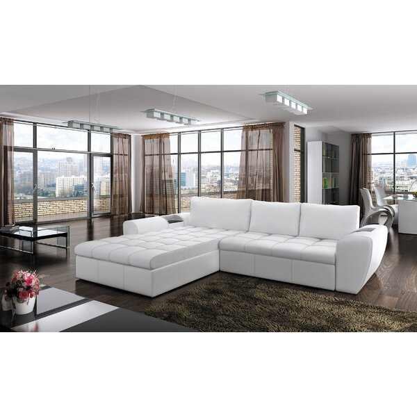 Longoria Reversible Sleeper Sectional by Orren Ellis
