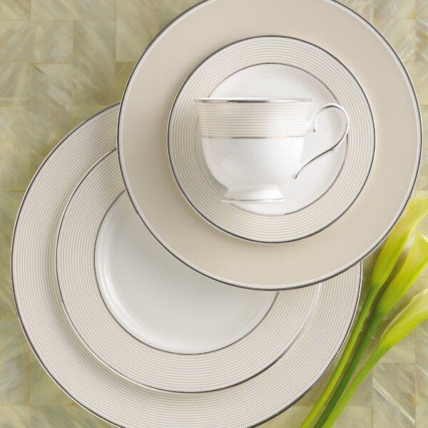 Opal Innocence Stripe Bone China 5 Piece Place Setting, Service for 1 by Lenox