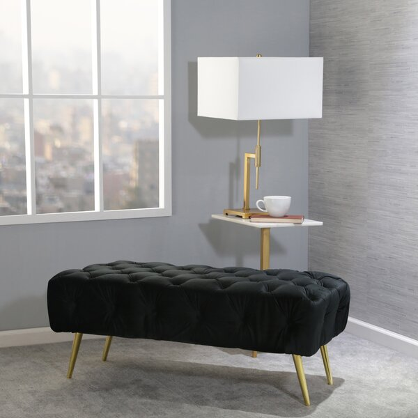 Frawley Upholstered Bench by Everly Quinn