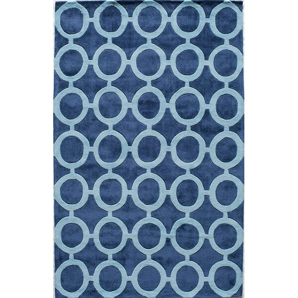 Hand-Tufted Royal Blue Area Rug by The Conestoga Trading Co.