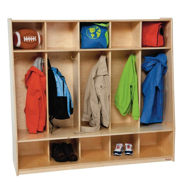 Tip-Me-Not 3 Tier 5 Wide Coat Locker by Wood Designs