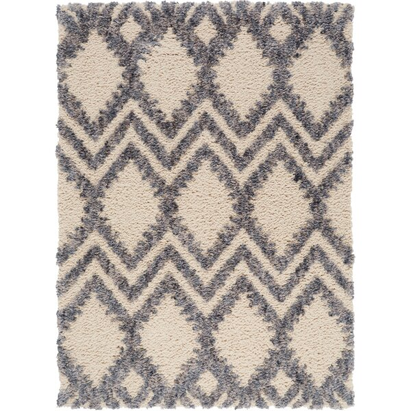 Chelsea Geometric Cream Area Rug by Christian Siriano
