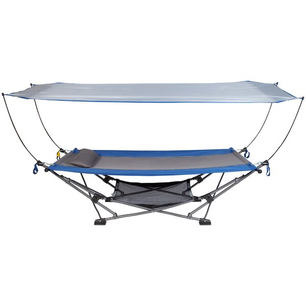 Hopedale Collapsible Camping Hammock with Stand by Freeport Park