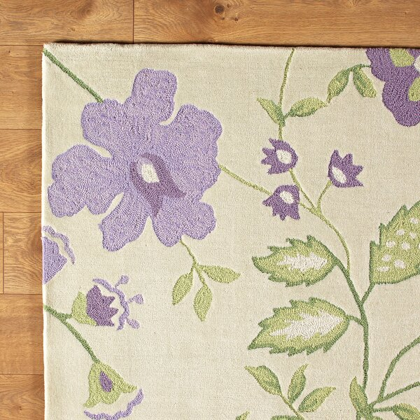 Trailing Vines Purple Rug by Birch Lane™