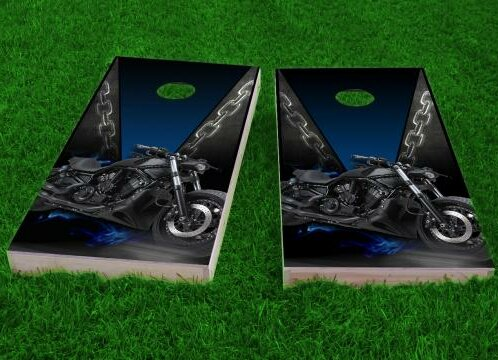 Motorcycle Cornhole Game (Set of 2) by Custom Cornhole Boards