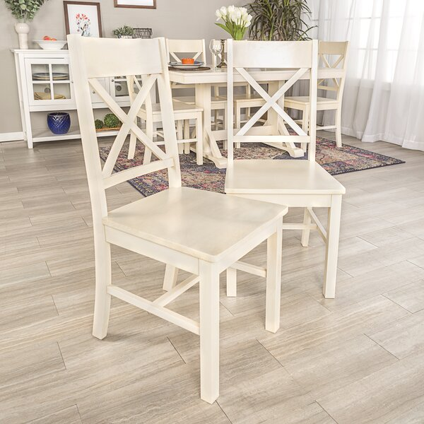 Maplewood Wood Dining Chair (Set of 2) by August Grove