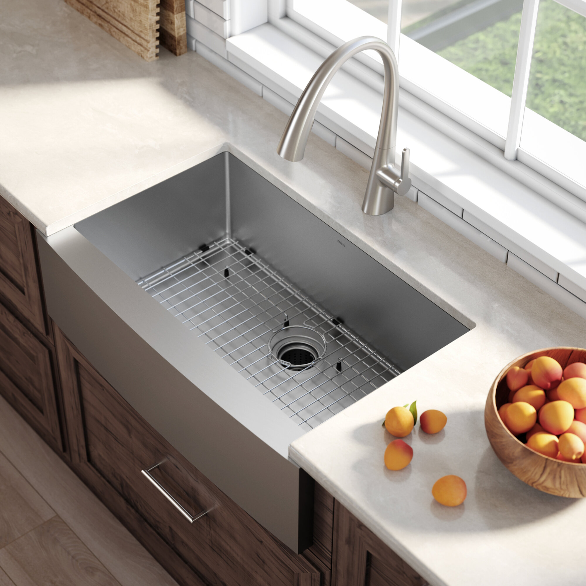 Standart Pro Farmhouse Flat A Front Single Bowl Stainless