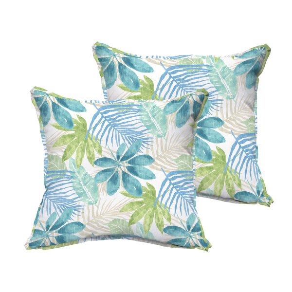 Darcio Indoor/Outdoor Throw Pillow (Set of 2) by Highland Dunes