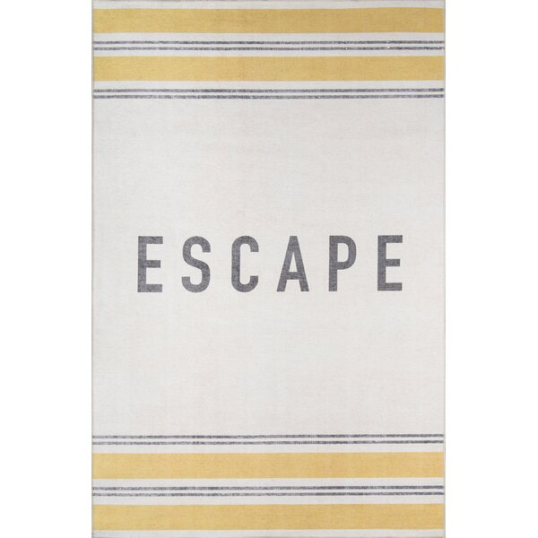 Escape Yellow Area Rug by Novogratz