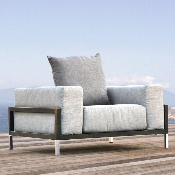 Tilly Patio Chair with Cushion by Orren Ellis
