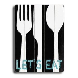 Let's Eat Wood Graphic Art by Laurel Foundry Modern Farmhouse