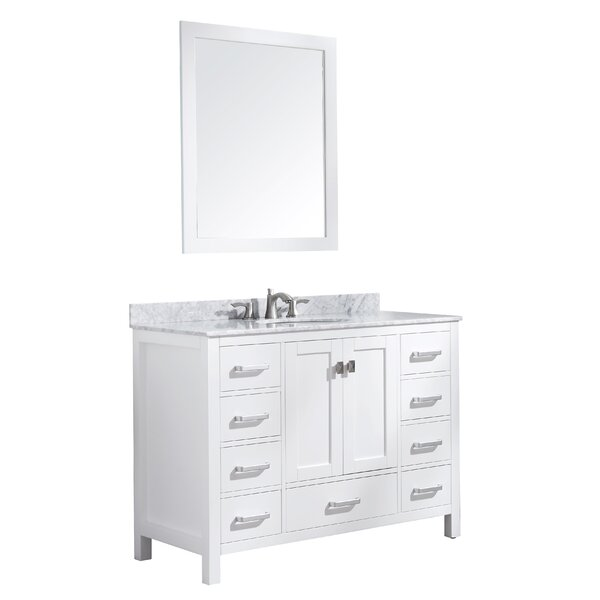 Tia 48 Single Bathroom Vanity Set with Mirror by Brayden Studio