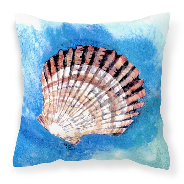 Farber Scallop Sea Shell 14 Throw Pillow