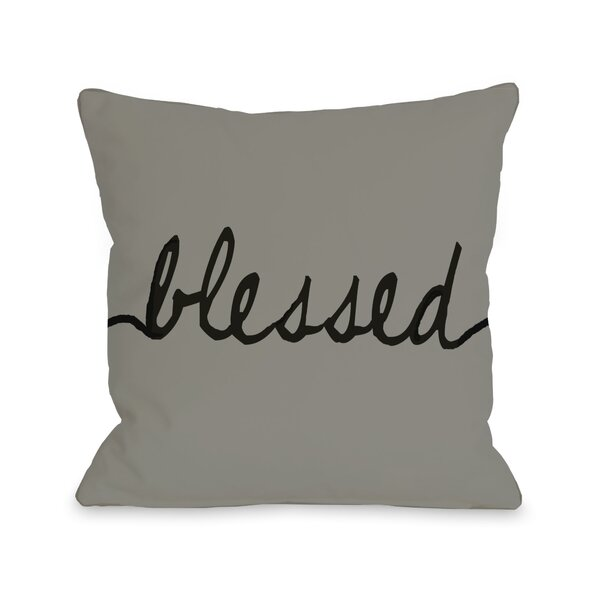 Blessed Mix and Match Throw Pillow by One Bella Casa