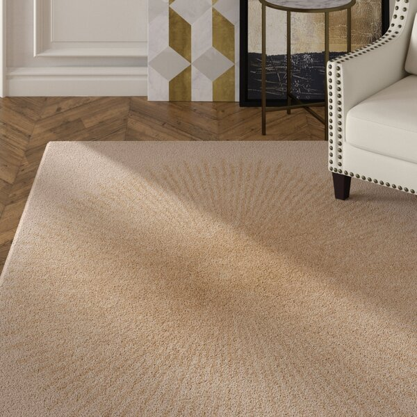 Tess Hand-Tufted Beige/Gold Area Rug by Mercer41