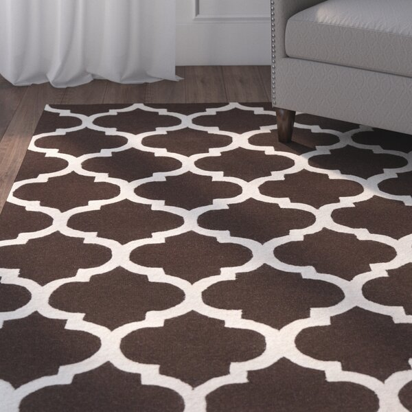 Blaisdell Wool Brown Stella Area Rug by Charlton Home