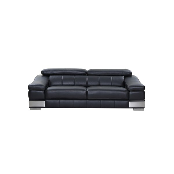 Hawkesbury Common Living Room Leather Sofa By Orren Ellis Cheap