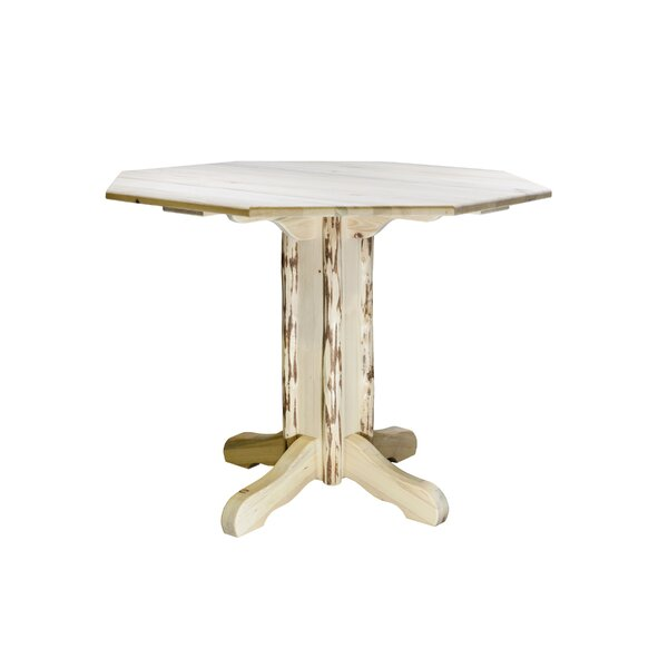 Tustin Pedestal Solid Wood Dining Table by Loon Peak