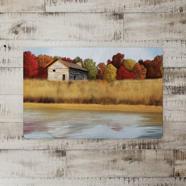 Ochoa Autumn Cabin Landscape Kitchen Mat